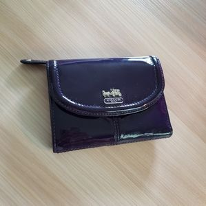 COACH Purple Patent Leather Wallet